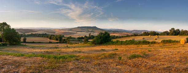 countryside panorama of tuscan maremma near saturnia