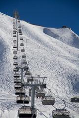 Chairlift in ski resort Krasnaya Polyana, Russia