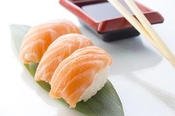 Salmon sushi nigiri
