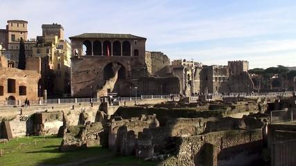 Ruins of Trajan's Forum. Rome, Italy.