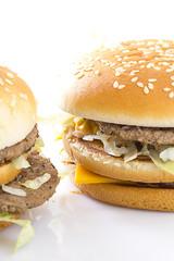 Big Tasty Hamburger on white background