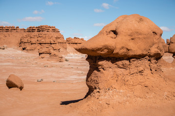 Sandstone hoodoo in shape of a goblin's head