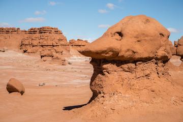 Sandstone hoodoo in shape of a goblin's head
