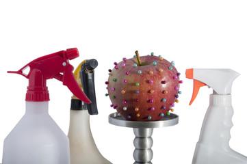 Pesticidas sobre la fruta
