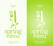Restaurant Spring Menu Cards Design template.