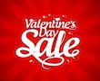 Valentine`s day sale design template.