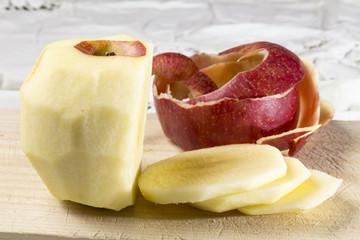 peeled and sliced apple