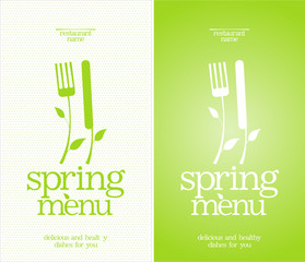 Restaurant Spring Menu Cards Design template.