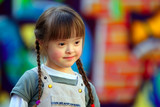 Portrait of beautiful young girl on the playground. - Fine Art prints