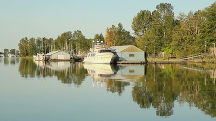 Yacht Reflection, Delta, British Columbia
