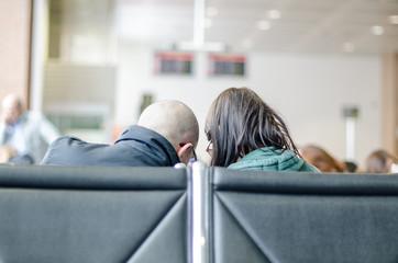 Partenza ed arrivo in aeroporto con passeggeri