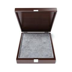 Luxury opened wooden box