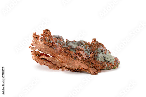 Isolated Raw Copper Nugget
