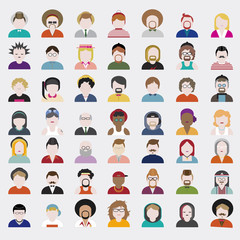 People Diversity Design Characters Avatar Vector Concept