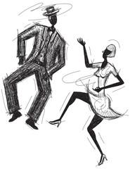 Sketchy Dancing Couple