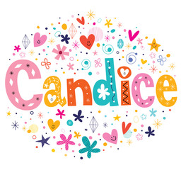 Candice girls name decorative lettering type design