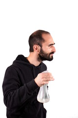 Man with spray