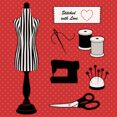 Fashion model mannequin, DIY sewing, tailoring, stitch with love
