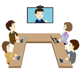 テレビ会議 ビジネスチーム