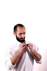 Man wearing white shirt