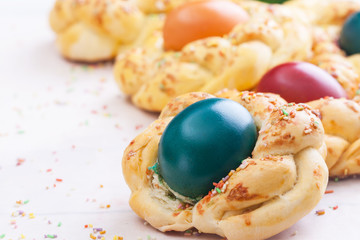 easter sweet bread /cake/  with eggs