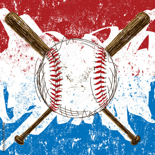 Baseball Flag background - 77119026