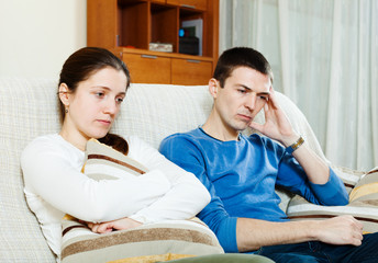 Sadness  couple having problems