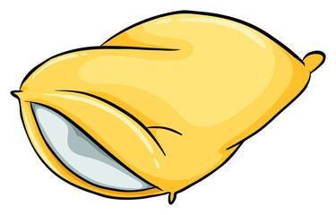 A yellow pillow