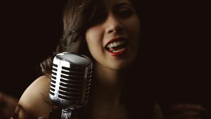 Music woman singer silhouette chorus
