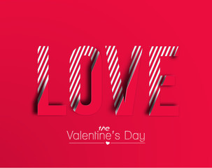 Love text effect made of vector design element.