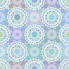 Mosaic spirograph pattern