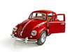 Leinwandbild Motiv The red toy car with an open door