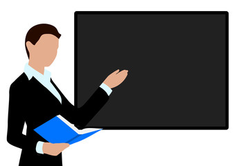 person conducting the presentation