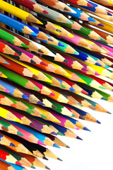 Color pencils isolated objects