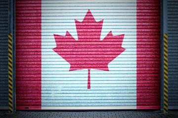 kanadisches verzinktes Stahltor (canada roll-up door)