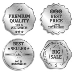 Vector collection of sale icons, badges or labels