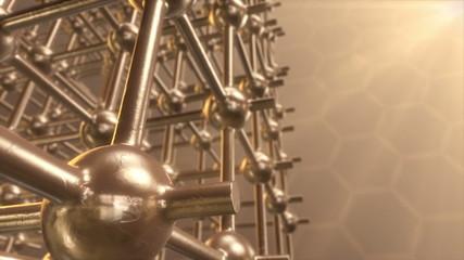 Atomic lattice.Seamless loop