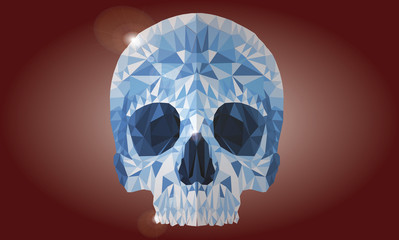 Skull stylized glass vector