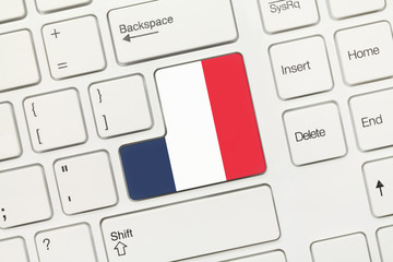 White conceptual keyboard - France (key with flag)