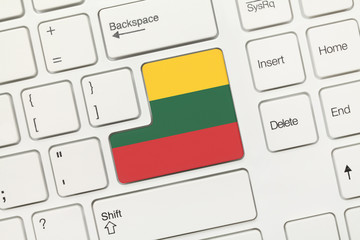 White conceptual keyboard - Lithuania (key with flag)