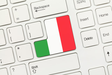 White conceptual keyboard - Italy (key with flag)