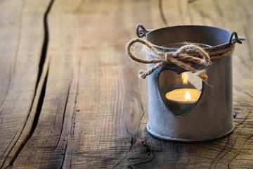 Romantic shabby lantern for Valentine's Day greeting