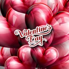 vector typographic illustration of handwritten St. Valentines