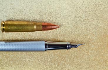 Pen and a bullet