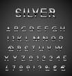 Silver alphabet set - 77130659