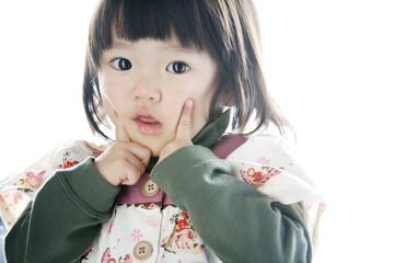 a portrait of an asian girl
