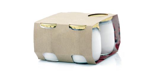 Pack de yaourts frais