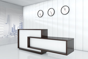Office space as reception 3d rendering interior