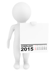 Character holding calendar February 2015