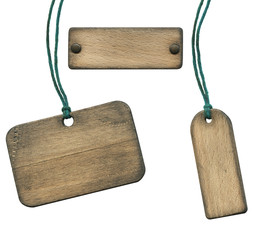 Old wooden tag
